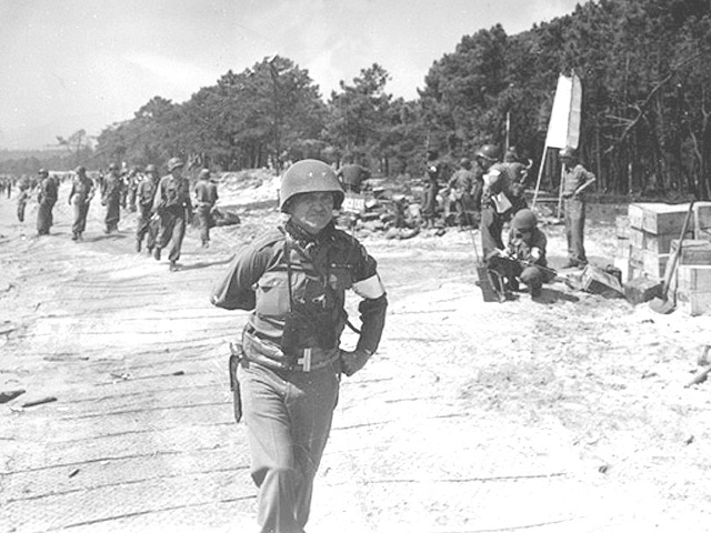 Major General John W. O'Daniel takes command of the beachhead near St. Tropez. O'Daniel, appointed division commander at Anzio, led the Third Division through France, into Germany and craftily directed the division's capture of Berchtesgaden at the end of the European conflict.